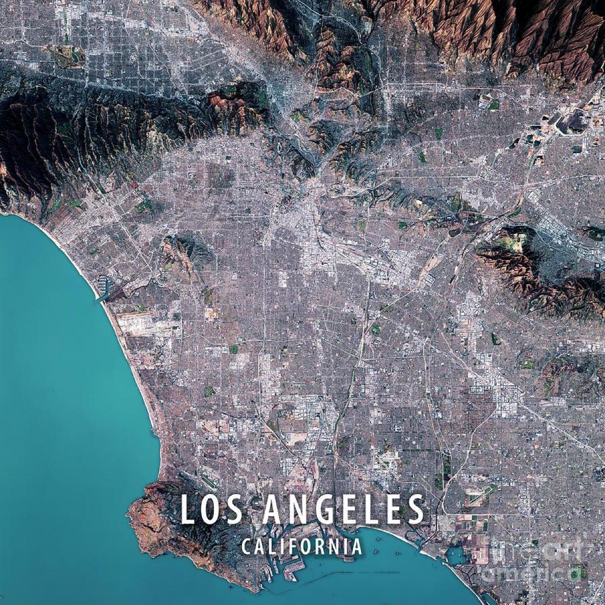 Los Angeles Harta Prin Satelit Harta Los Angeles Prin Satelit